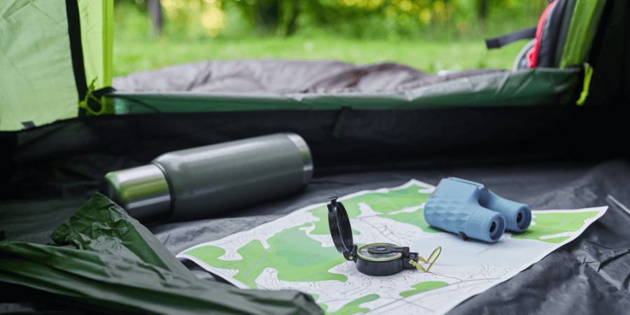 Camping Essentials - Map and Compass